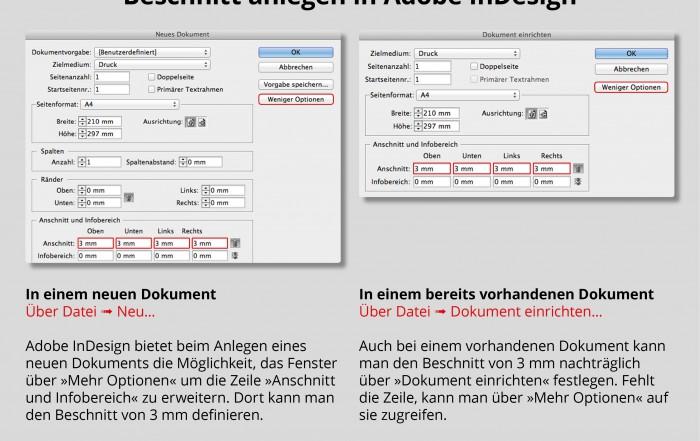 Beschnitt Adobe InDesign